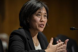 President Biden's US trade representative nominee Katherine Tai is expected to be confirmed by the Senate [File: Bill O'Leary/The Washington Post/Bloomberg]