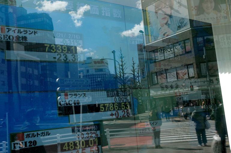 Peluncuran vaksin lain di AS dan harapan untuk paket bantuan lainnya mendorong sentimen investor [File: Soichiro Koriyama / Bloomberg]