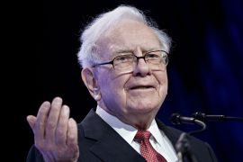 Warren Buffett, chairman and chief executive officer of Berkshire Hathaway Inc, saw his net worth jump to $100.4bn on Wednesday [File: Bloomberg]