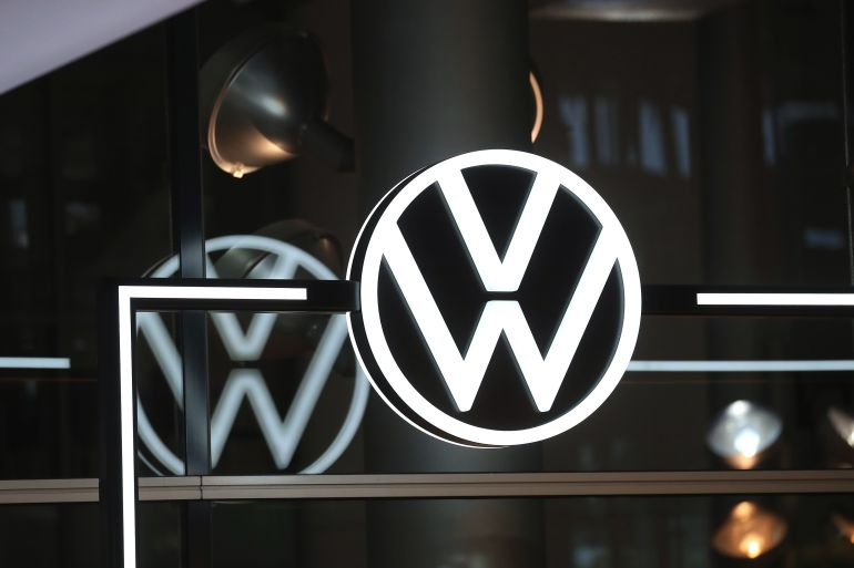 Volkswagen is trying to challenge Tesla in the US as an electric car leader [File: Krisztian Bocsi/Bloomberg]