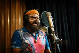 Indigenous musician Bunna Lawrie has joined Midnight Oil on the Makarrata Project [Courtesy of Daniel Hackett]