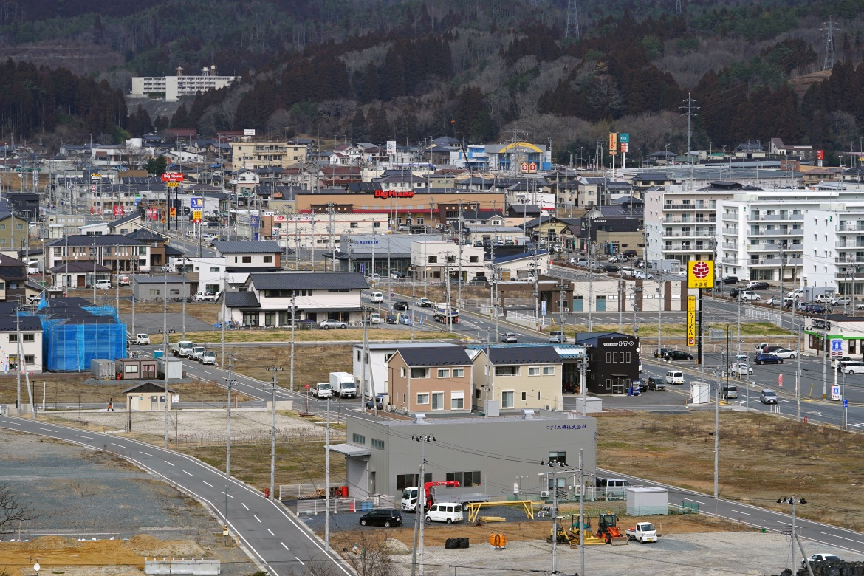 A tsunami-destroyed residential neighbourhood in Kesennuma, Miyagi Prefecture, northeastern Japan on March 5, 2021. [Eugene Hoshiko/AP Photo]
