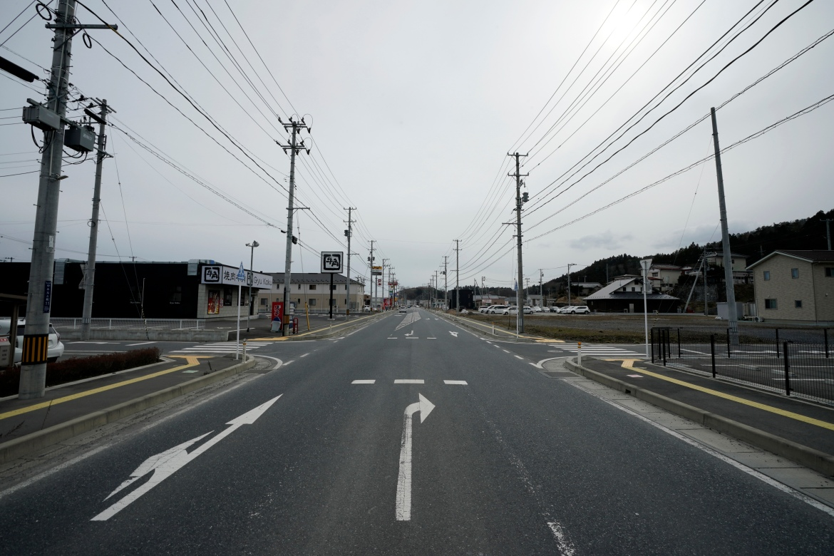 Nearly 10 years after the 2011 tsunami disaster, recovered streets are seen in Kesennuma, Miyagi Prefecture, northeastern Japan on Friday, March 5, 2021. [Eugene Hoshiko/AP Photo]