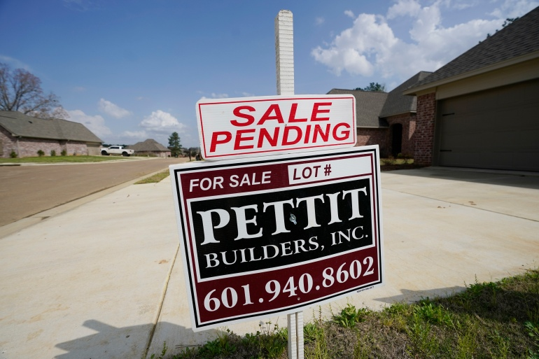 The number of available homes in the United States fell nearly one-third by February compared with a year earlier, to just over one million, according to the National Association of Realtors, the sharpest yearly drop on records dating back to 1982 [File: Rogelio V Solis/AP Photo]
