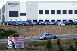Amazon has aggressively discouraged attempts by the Retail, Wholesale and Department Store Union to organise the online retail giant's facility in Bessemer, Alabama in the United States [File: Jay Reeves/AP Photo]