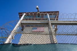 The control tower of Camp VI detention facility is seen on April 17, 2019, in Guantanamo Bay Naval Base, Cuba [Alex Brandon/AP Photo]