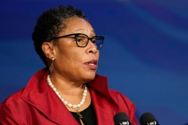 President Joe Biden's nominee for Housing and Urban Development secretary, Marcia Fudge was confirmed by the Senate [File: Susan Walsh/AP Photo]