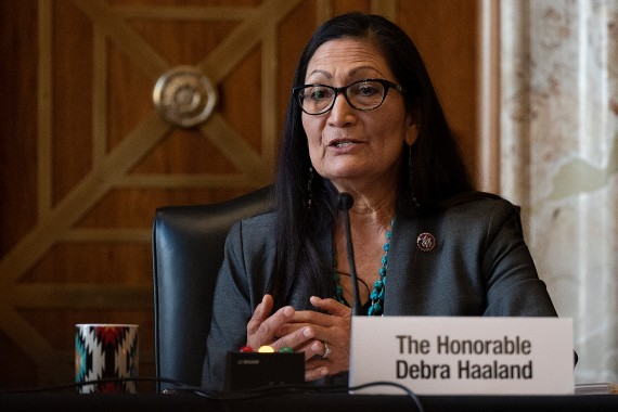United States Representative Deb Haaland, who has been an outspoken critic of fracking and cosponsored the original Green New Deal resolution, is widely expected to be confirmed as Secretary of the Interior [File: Jim Watson/Pool via AP]