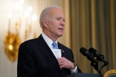 President Joe Biden speaks about efforts to combat COVID-19 at the White House [Evan Vucci/AP Photo]