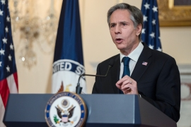Secretary of State Antony Blinken's comments come days after the US warned China against destabilising actions near Taiwan and the Philippines [File: Andrew Caballero-Reynolds/Pool via AP]