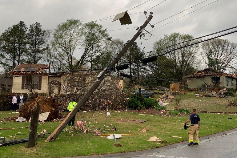 At least 3 dead after large tornadoes cause damage across Alabama | Climate  News | Al Jazeera