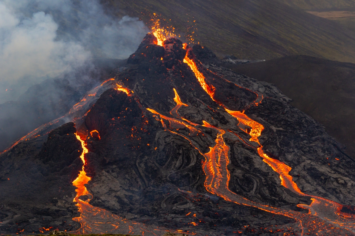 On Friday the Icelandic Meteorological Office announced a volcano, located southwest of the capital, Reykjavik, erupted after thousands of small earthquakes in the area in recent weeks. [Vilhelm Gunnarsson/Getty Images]