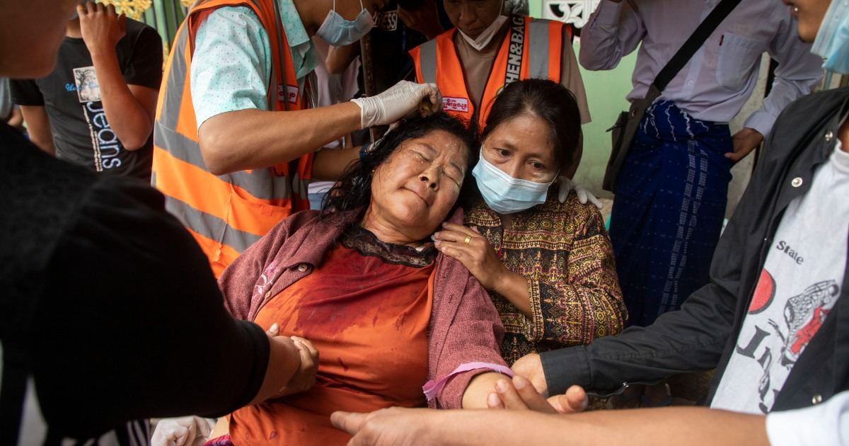Medics risk lives to treat injured in Myanmar anti-coup protests