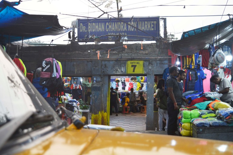Maidan Market was named Dr Bidhan Chandra Roy Market when it opened in 1954 [Annesha Ghosh/Al Jazeera]