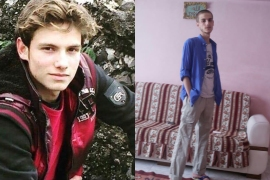 Omar as a 15-year-old in 2011 before he was imprisoned, and later, in 2015 immediately after he escaped [Photo courtesy of Omar Alshogre]