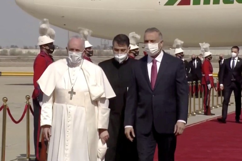 Pope Francis embarks on historic visit to Iraq | Religion News | Al Jazeera