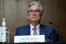 United States Federal Reserve Chairman Jerome Powell also said the Fed is researching the potential for a central bank digital currency, though he added that the Fed is not yet near a decision about implementing one [File: Susan Walsh/AP Photo]