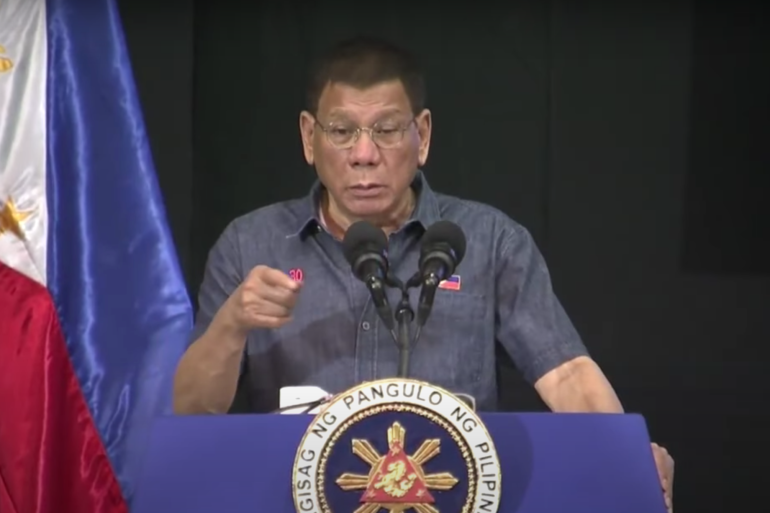 Duterte told communist rebels on Friday that they have 'no ideology' and that they are just fighting like 'bandits' [RTVM Malacanang]