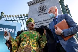Ngozi Okonjo-Iweala, 66, is both the first woman and the first African person to serve as the World Trade Organization's director-general [Fabrice Coffrini/Reuters]