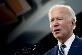 United States President Joe Biden's proposals face significant changes, given the 50-50 split in the Senate and the Democrats' narrow majority in the House, which gives extra power to individual lawmakers to shape the final legislation [File: Stefani Reynolds/CNP/Bloomberg]