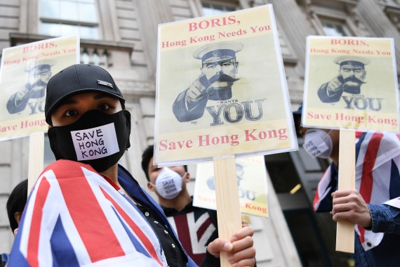 At least 7,000 Hong Kong people have so far take up the UK government's offer for settlement and eventual citizenship [File: Andy Rain/EPA]