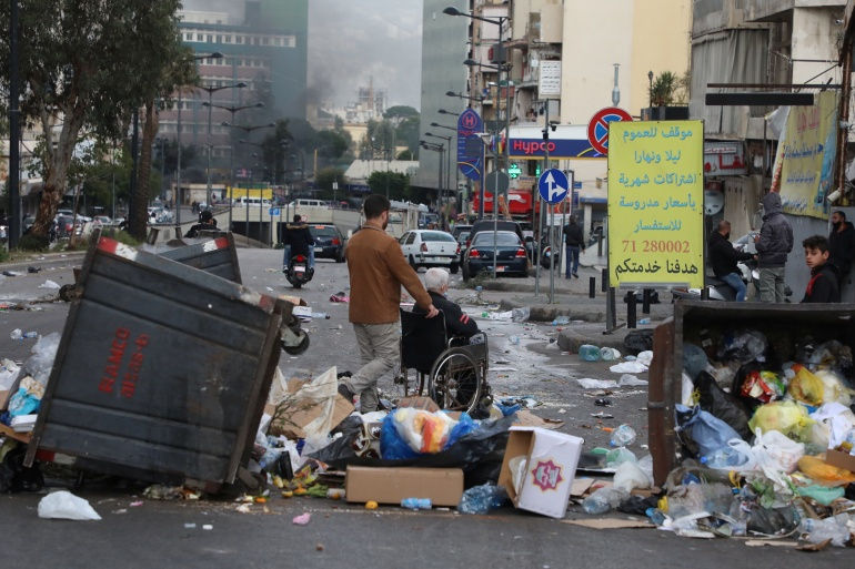 Lebanon is in the midst of a economic meltdown as well as the coronavirus pandemic, sparking street protests [File: Mohamed Azakir/Reuters]