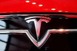 Tesla is down over 20 percent from its January record high and is up around 700 percent over the past 12 months [File: Lucas Jackson/Reuters]