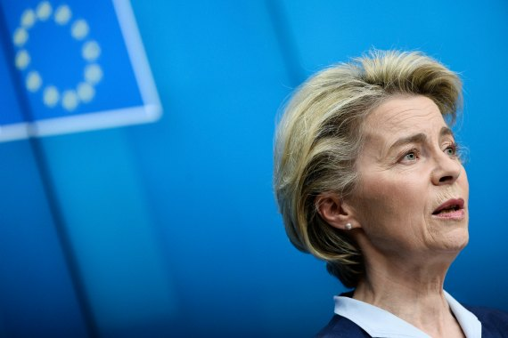 European Commission President Ursula von der Leyen on Thursday called for wage transparency, adding that 'women must know whether their employers treat them fairly' [File: Johanna Geron/AP Photo]