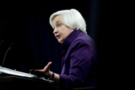 The tiff between United States Treasury Secretary Janet Yellen and a GOP senator on Wednesday illustrates how Republican opposition is growing louder as the International Monetary Fund moves towards a deal to expand its reserve assets for the first time since 2009 [File: Andrew Harrer/Bloomberg]
