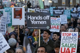 For several years, human rights activists in the UK, Canada, France and elsewhere have called on their governments to suspend arms sales to Saudi Arabia over the war in Yemen [File: Tolga Akmen/AFP]