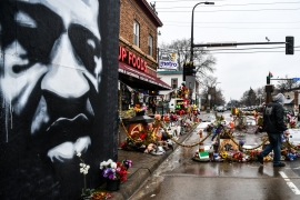 George Floyd's death in May of last year drew widespread outrage and prompted nationwide protests in the United States [File: Chandan Khanna/AFP]