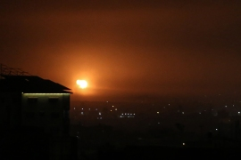 The Israeli army claimed that the Palestinians fired a rocket from the Gaza Strip into southern Israel [Said Khatib/AFP]