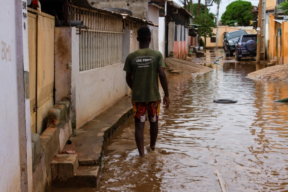 Heavy downpours are not unusual in Angola during the southwest African country's rainy season [Osvaldo Silva/AFP]