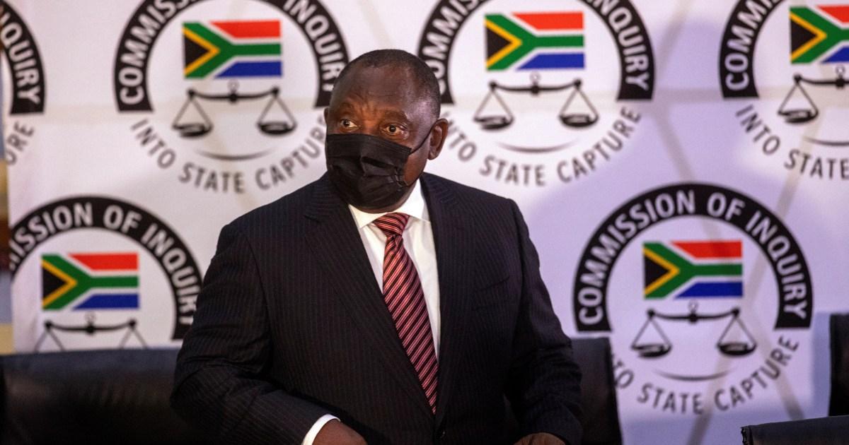 S Africa S Ramaphosa Admits Anc Mistakes Before Graft Panel Corruption News Al Jazeera