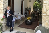Colette Khalil runs the boutique hotel Beit al Batroun, about an hour and a half from Lebanon's capital, Beirut [Anchal Vohra/Al Jazeera]