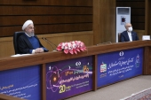 Hassan Rouhani on Saturday launched several projects across the country via video link that was broadcast live on national television [Iran President's Office]