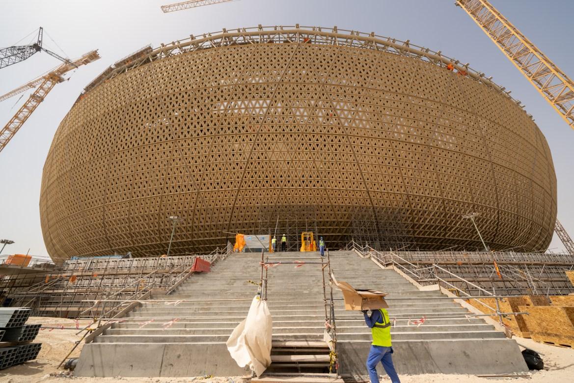 Das Lusail-Stadion mit 80,000 Sitzplätzen wird am 2022. Dezember 18, dem Nationalfeiertag von Katar, das Endspiel der FIFA Fussball-Weltmeisterschaft Katar 2022 austragen. [Sorin Furcoi/Al Jazeera]