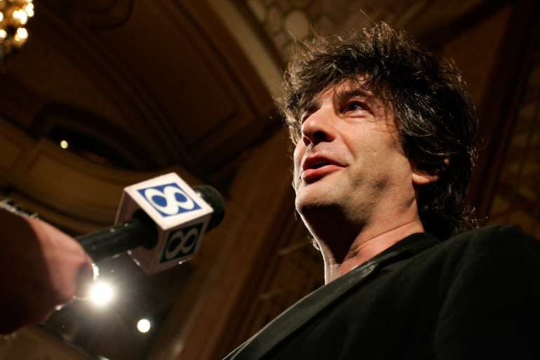 The English novelist Neil Gaiman is among those who have signed the letter [File: Reuters]