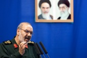 The bloc blacklisted Hossein Salami, head of the Revolutionary Guards, the most powerful security force in Iran [File: Morteza Nikoubazl/Reuters]
