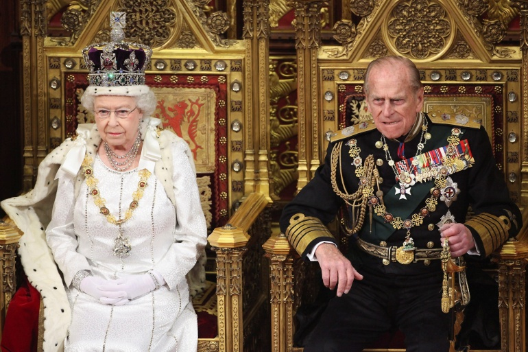 The Duke of Edinburgh had been by Queen Elizabeth II's side throughout her 69-year reign, the longest in British history [File: Oli Scarff/Pool via Reuters]