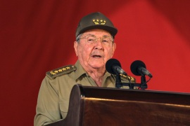 Raul Castro led Cuba's army, then succeeded his brother Fidel as president of the country, then first secretary of the Communist Party [File: Alejandro Ernesto/Pool/Reuters]