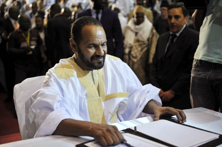 Ould Sidati was president of the Coordination of Azawad Movements (CMA), an alliance that brought together several Tuareg and Arab nationalist groups [File: Reuters]