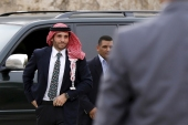Jordan's Prince Hamzah was put under de facto house arrest for his alleged role in a conspiracy to undermine Jordan's national security on April 3, 2021 [File/Muhammad Hamed/Reuters]