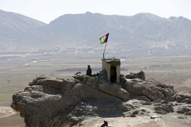An Afghan National Army (ANA) soldier keeps watch at a post in Logar province [File: Omar Sobhani/Reuters]