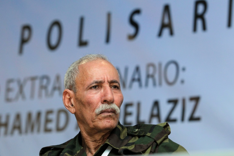 Brahim Ghali, 73, heads the Polisario Front, an Algeria-backed breakaway movement that seeks to establish an independent state in the Western Sahara region [File: Ramzi Boudina/Reuters]