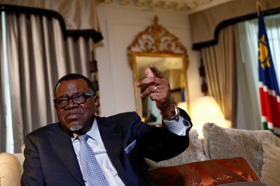Associates of Namibian President Hage Geingob were earlier implicated in the so-called Fishrot scandal — corruption in the lucrative fishing industry that was exposed by Al Jazeera [Stefan Wermuth/Reuters]