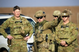 Members of Australia Task Group attend a training session conducted by coalition forces for Nineveh police forces at Taji military base north of Baghdad, Iraq, on February 13, 2017 [File: Thaier Al-Sudani/ Reuters]