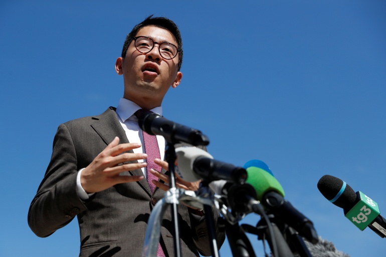 Activist Nathan Law said on Wednesday that he had been granted asylum in the UK after several interviews over four months [File: Yara Nard/Reuters]