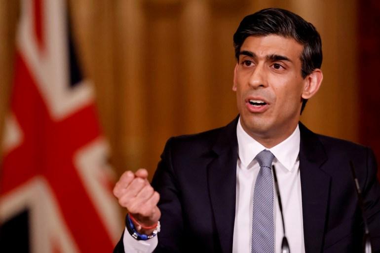Kanselir Keuangan Inggris Rishi Sunak turun ke Twitter pada hari Senin untuk menggambarkan kemungkinan mata uang digital Inggris baru sebagai 'Britcoin' [File: Tolga Akmen / Pool via Reuters]