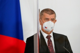 Prime Minister Andrej Babis repeatedly criticised outgoing health minister Jan Blatny over his handling of the pandemic [File: Leonhard Foeger/Reuters]